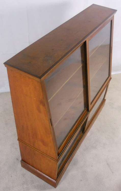 Large Oak Display Bookcase Cabinet With Sliding Doors Sold